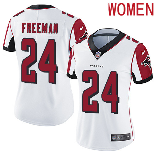2019 Women Atlanta Falcons 24 Freeman white Nike Vapor Untouchable Limited NFL Jersey