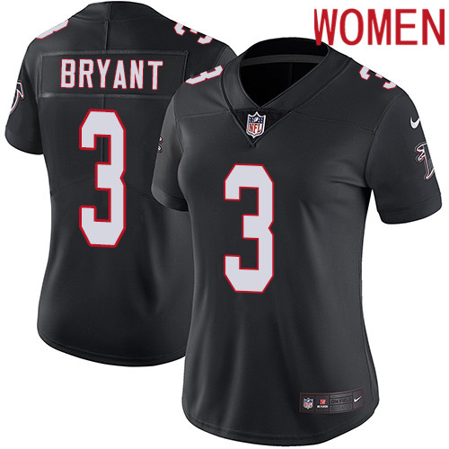 2019 Women Atlanta Falcons 3 Bryant black Nike Vapor Untouchable Limited NFL Jersey