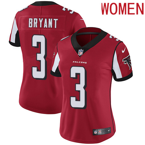 2019 Women Atlanta Falcons 3 Bryant red Nike Vapor Untouchable Limited NFL Jersey