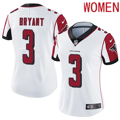 2019 Women Atlanta Falcons 3 Bryant white Nike Vapor Untouchable Limited NFL Jersey
