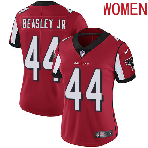 2019 Women Atlanta Falcons 44 Beasley Jr red Nike Vapor Untouchable Limited NFL Jersey