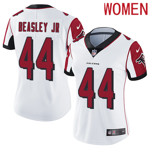 2019 Women Atlanta Falcons 44 Beasley Jr white Nike Vapor Untouchable Limited NFL Jersey