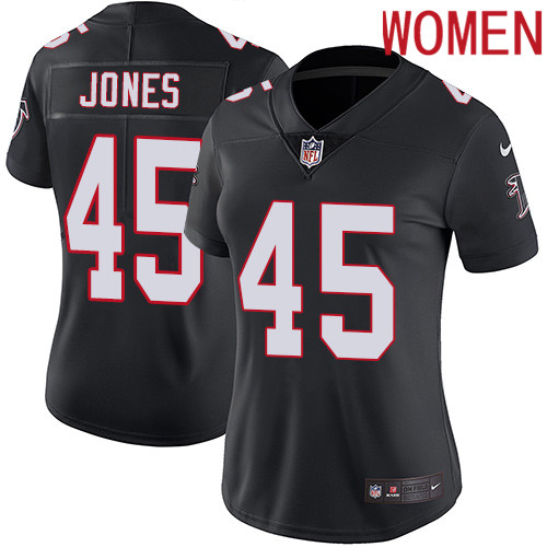 2019 Women Atlanta Falcons 45 Jones black Nike Vapor Untouchable Limited NFL Jersey