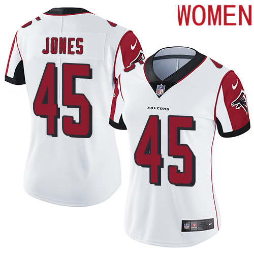 2019 Women Atlanta Falcons 45 Jones white Nike Vapor Untouchable Limited NFL Jersey