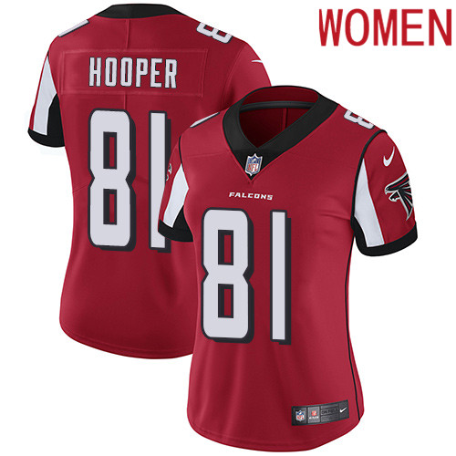 2019 Women Atlanta Falcons 81 Hooper red Nike Vapor Untouchable Limited NFL Jersey