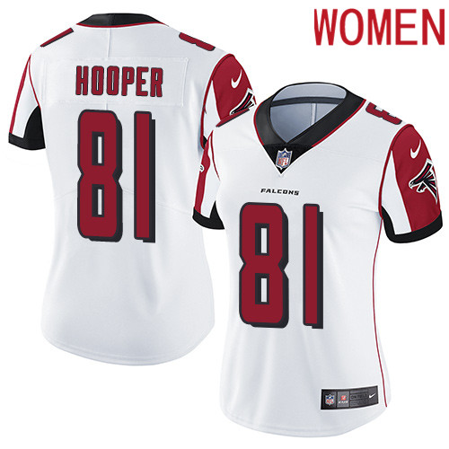 2019 Women Atlanta Falcons 81 Hooper white Nike Vapor Untouchable Limited NFL Jersey