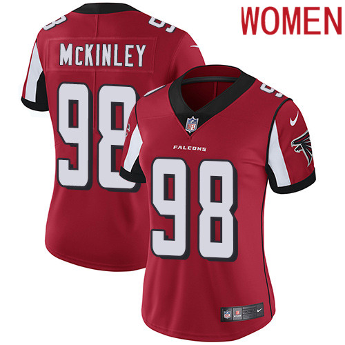 2019 Women Atlanta Falcons 98 McKinley red Nike Vapor Untouchable Limited NFL Jersey
