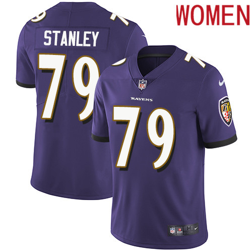 2019 Women Baltimore Ravens 79 Stanley purple Nike Vapor Untouchable Limited NFL Jersey