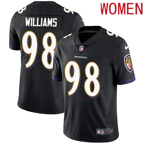 2019 Women Baltimore Ravens 98 Brandon Williams black Nike Vapor Untouchable Limited NFL Jersey