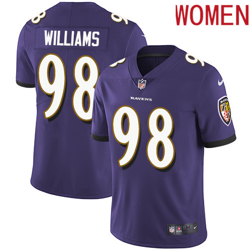 2019 Women Baltimore Ravens 98 Brandon Williams purple Nike Vapor Untouchable Limited NFL Jersey
