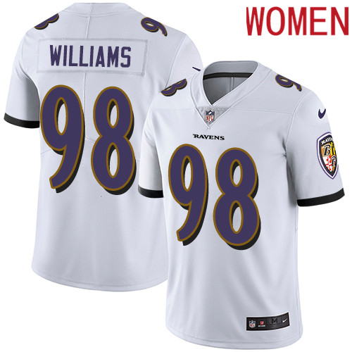 2019 Women Baltimore Ravens 98 Brandon Williams white Nike Vapor Untouchable Limited NFL Jersey