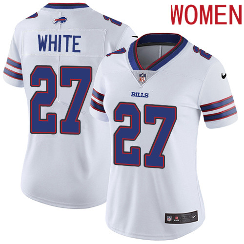 2019 Women Buffalo Bills 27 White white Nike Vapor Untouchable Limited NFL Jersey