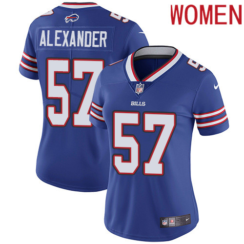 2019 Women Buffalo Bills 57 Alexander blue Nike Vapor Untouchable Limited NFL Jersey