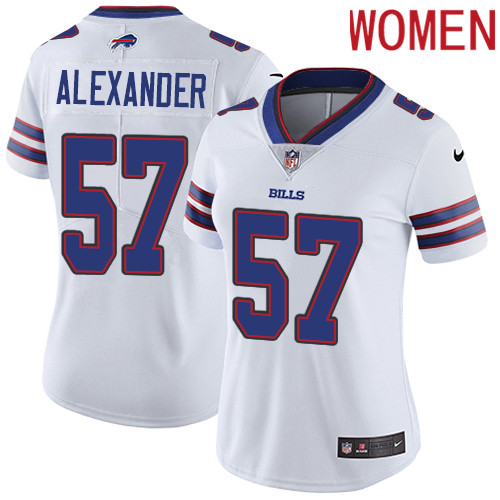 2019 Women Buffalo Bills 57 Alexander white Nike Vapor Untouchable Limited NFL Jersey