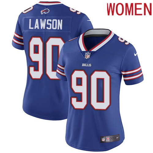 2019 Women Buffalo Bills 90 Lawson blue Nike Vapor Untouchable Limited NFL Jersey