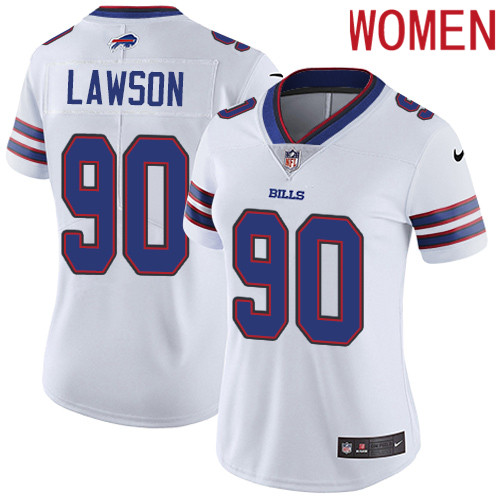 2019 Women Buffalo Bills 90 Lawson white Nike Vapor Untouchable Limited NFL Jersey