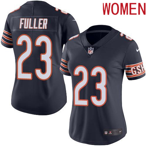 2019 Women Chicago Bears 23 Fuller BLUE Nike Vapor Untouchable Limited NFL Jersey