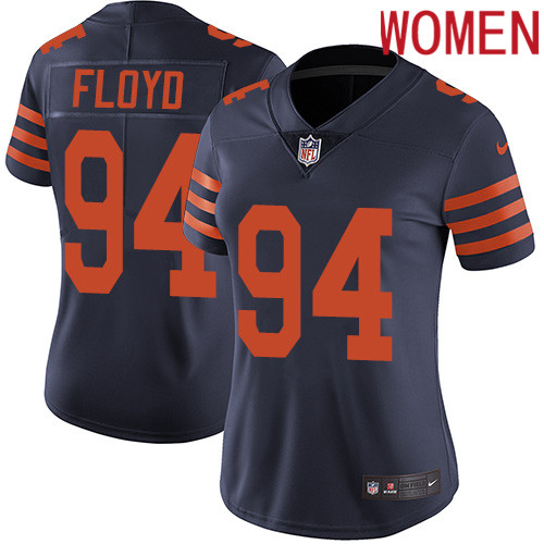 2019 Women Chicago Bears 94 Floyd blue Nike Vapor Untouchable Limited NFL Jersey style 2