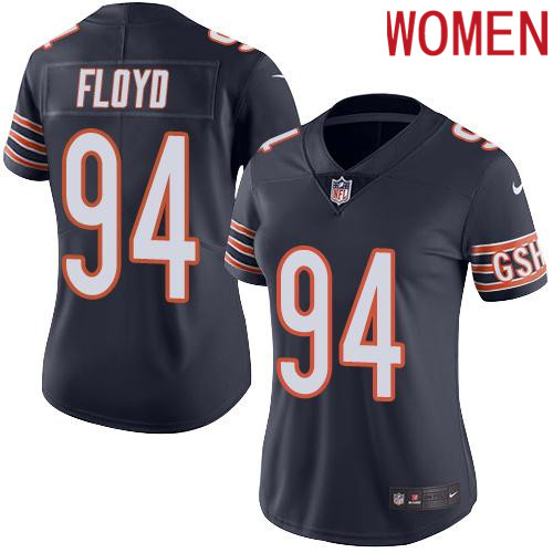 2019 Women Chicago Bears 94 Floyd blue Nike Vapor Untouchable Limited NFL Jersey
