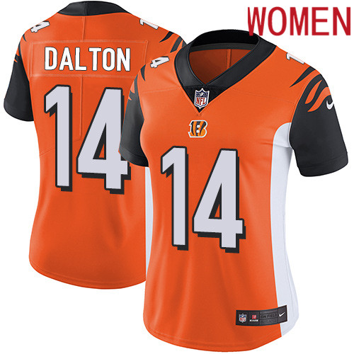 2019 Women Cincinnati Bengals 14 Dalton orange Nike Vapor Untouchable Limited NFL Jersey