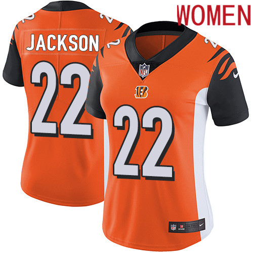 2019 Women Cincinnati Bengals 22 Jackson orange Nike Vapor Untouchable Limited NFL Jersey