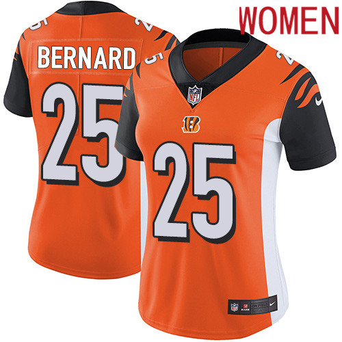 2019 Women Cincinnati Bengals 25 Bernard orange Nike Vapor Untouchable Limited NFL Jersey