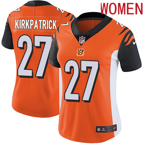 2019 Women Cincinnati Bengals 27 Kirkpatrick Orange Nike Vapor Untouchable Limited NFL Jersey