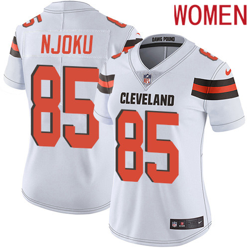 2019 Women Cleveland Browns 85 Njoku white Nike Vapor Untouchable Limited NFL Jersey