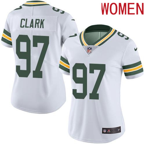 2019 Women Green Bay Packers 97 Clark White Nike Vapor Untouchable Limited NFL Jersey