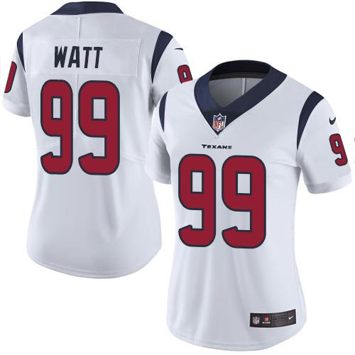 2019 Women Houston Texans 99 Watt white Nike Vapor Untouchable Limited NFL Jersey