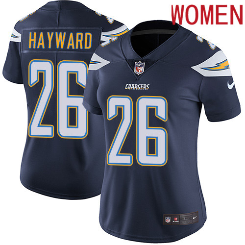 2019 Women Los Angeles Chargers 26 Hayward blue Nike Vapor Untouchable Limited NFL Jersey