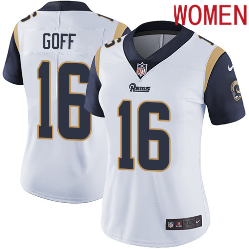 2019 Women Los Angeles Rams 16 Goff white Nike Vapor Untouchable Limited NFL Jersey