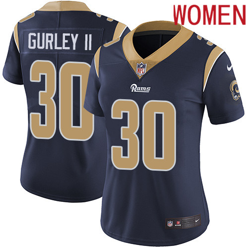 2019 Women Los Angeles Rams 30 Gurley II dark blue Nike Vapor Untouchable Limited NFL Jersey