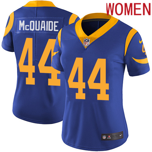 2019 Women Los Angeles Rams 44 McQuaide blue Nike Vapor Untouchable Limited NFL Jersey