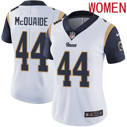 2019 Women Los Angeles Rams 44 McQuaide white Nike Vapor Untouchable Limited NFL Jersey