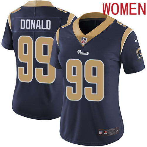 2019 Women Los Angeles Rams 99 Donald dark blue Nike Vapor Untouchable Limited NFL Jersey