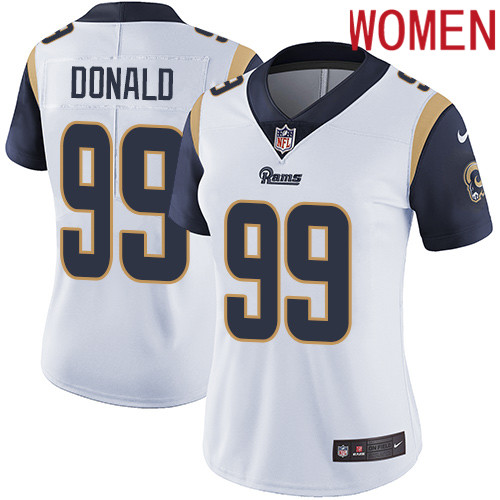 2019 Women Los Angeles Rams 99 Donald white Nike Vapor Untouchable Limited NFL Jersey