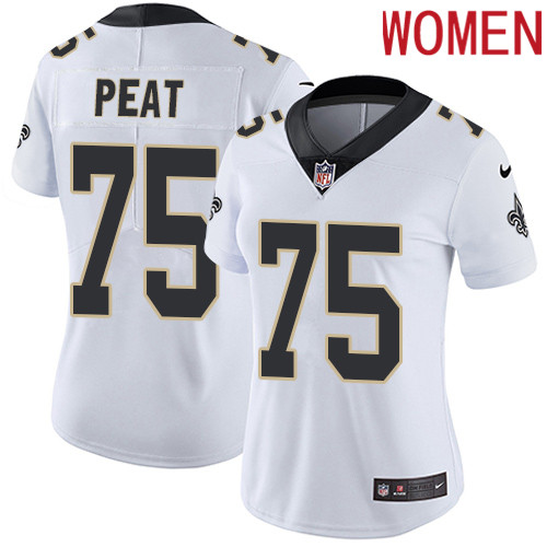 2019 Women New Orleans Saints 75 Peat white Nike Vapor Untouchable Limited NFL Jersey
