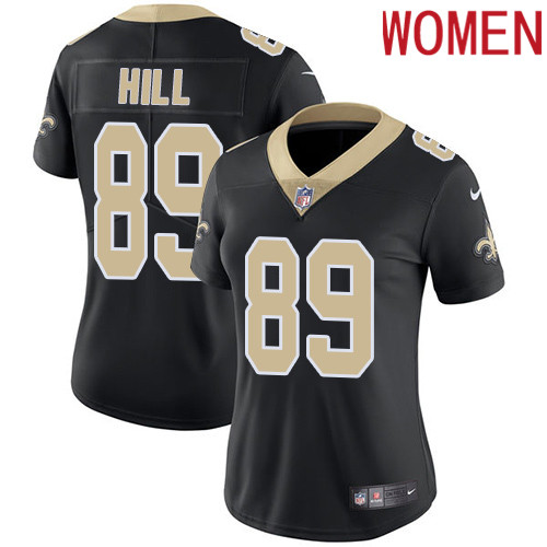 2019 Women New Orleans Saints 89 Hill black Nike Vapor Untouchable Limited NFL Jersey