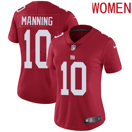 2019 Women New York Giants 10 Manning red Nike Vapor Untouchable Limited NFL Jersey