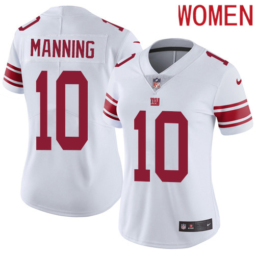 2019 Women New York Giants 10 Manning white Nike Vapor Untouchable Limited NFL Jersey