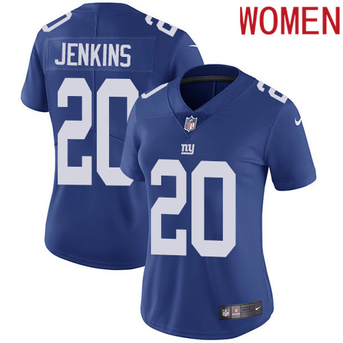 2019 Women New York Giants 20 Jenkins blue Nike Vapor Untouchable Limited NFL Jersey