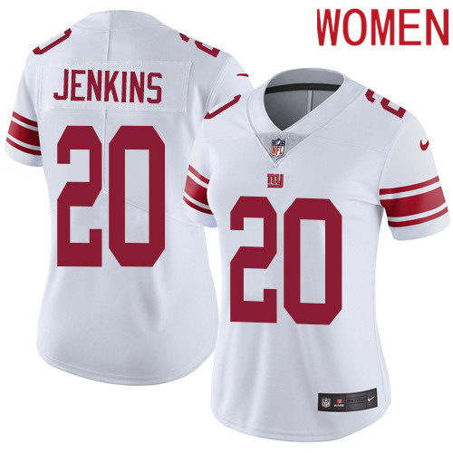 2019 Women New York Giants 20 Jenkins white Nike Vapor Untouchable Limited NFL Jersey