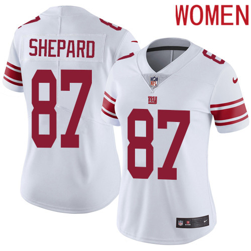 2019 Women New York Giants 87 Shepard white Nike Vapor Untouchable Limited NFL Jersey