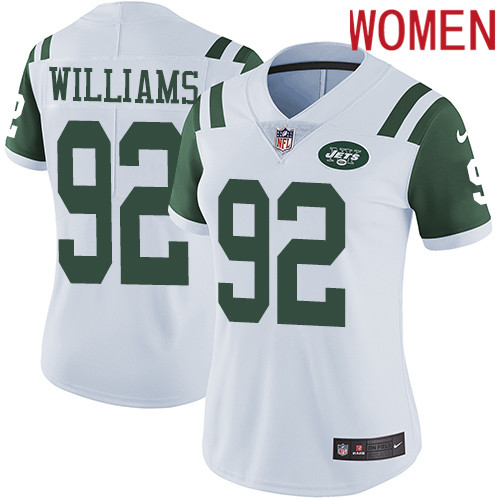 2019 Women New York Jets 92 Williams White Nike Vapor Untouchable Limited NFL Jersey