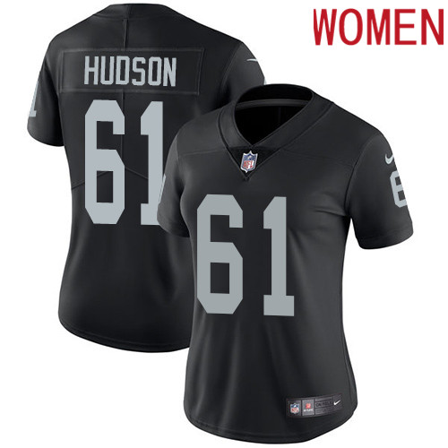 2019 Women Oakland Raiders 61 Hudson black Nike Vapor Untouchable Limited NFL Jersey