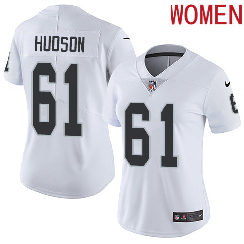 2019 Women Oakland Raiders 61 Hudson white Nike Vapor Untouchable Limited NFL Jersey