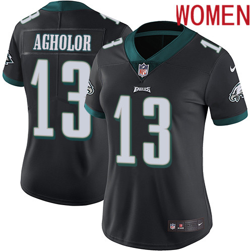 2019 Women Philadelphia Eagles 13 Agholor black Nike Vapor Untouchable Limited NFL Jersey
