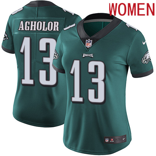 2019 Women Philadelphia Eagles 13 Agholor green Nike Vapor Untouchable Limited NFL Jersey