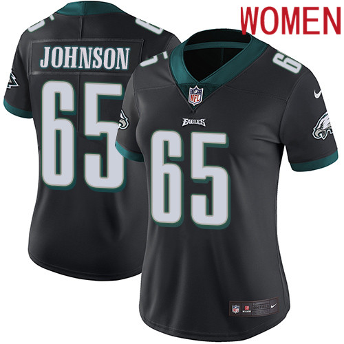 2019 Women Philadelphia Eagles 65 Johnson black Nike Vapor Untouchable Limited NFL Jersey